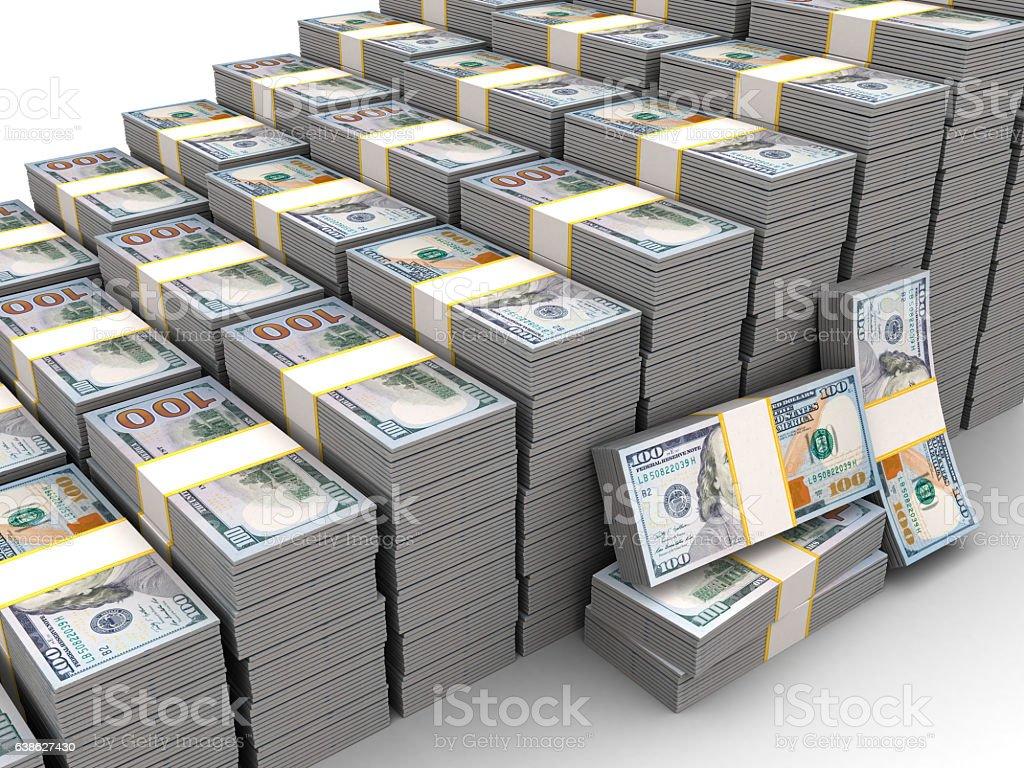 rising dollar stock photo
