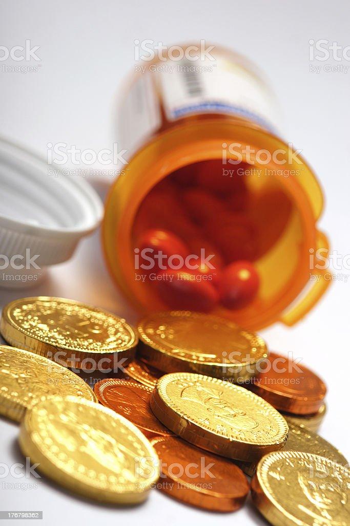 Rising Drug Prices royalty-free stock photo