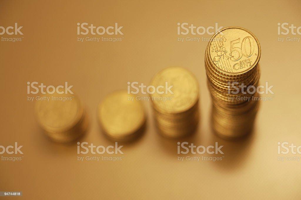 Rising ernings [gold] royalty-free stock photo