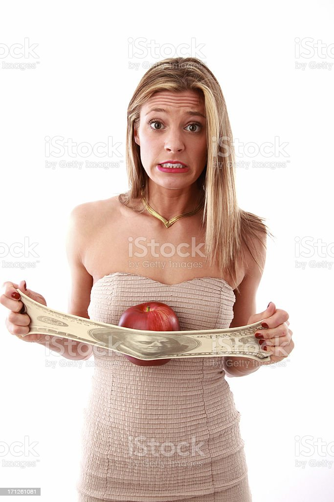 rising food prices royalty-free stock photo