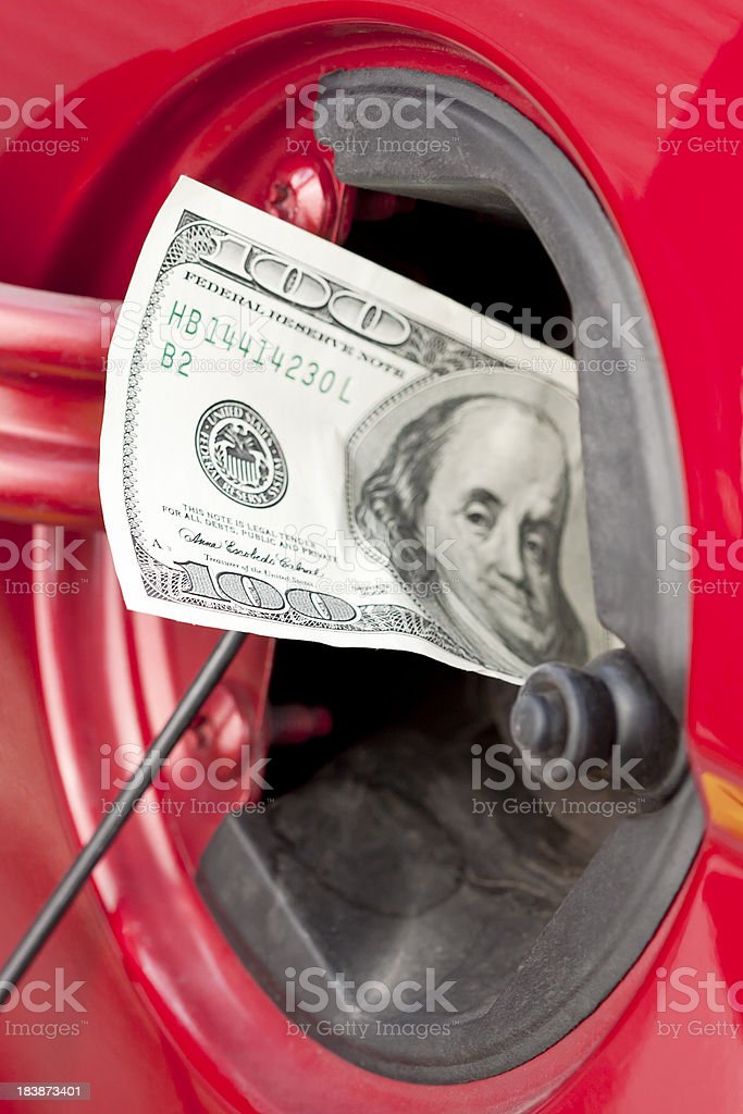 Rising Gas Prices royalty-free stock photo