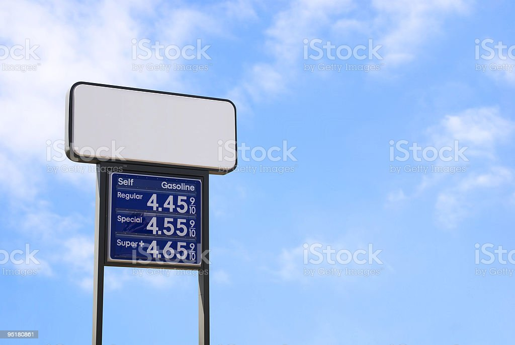 Rising gas prices stock photo