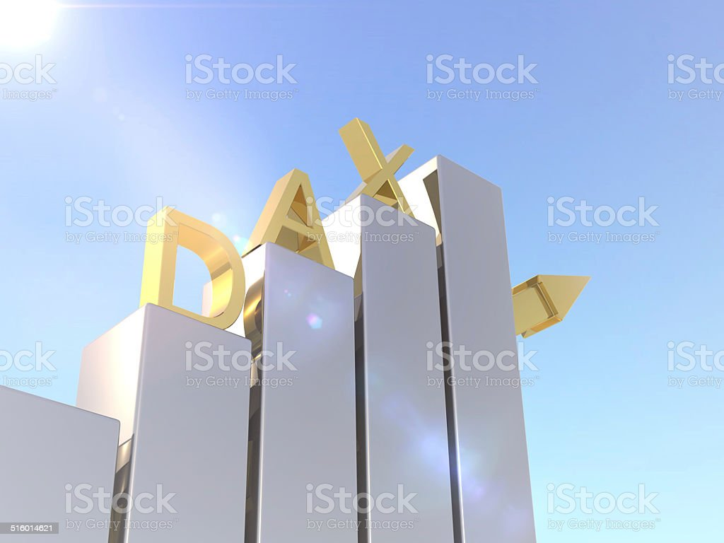 DAX Rising Gold stock photo