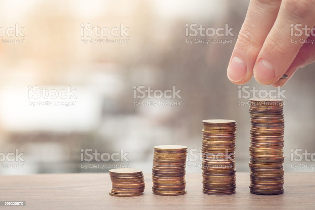 rising graph stock photo