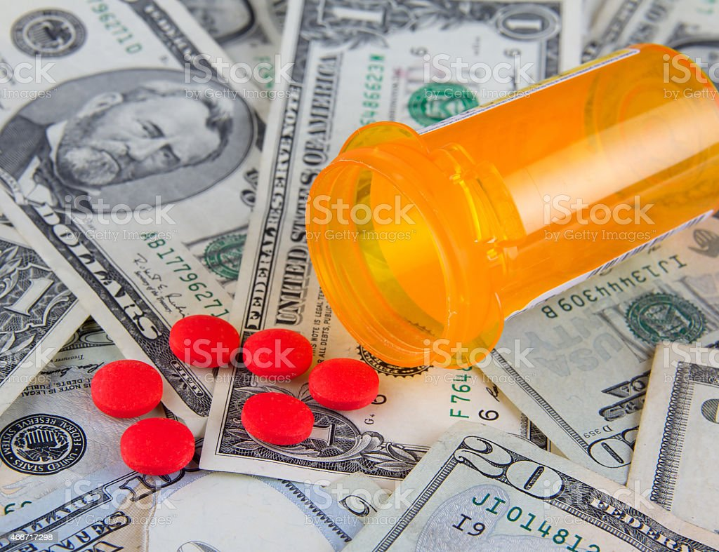 Rising health care costs stock photo