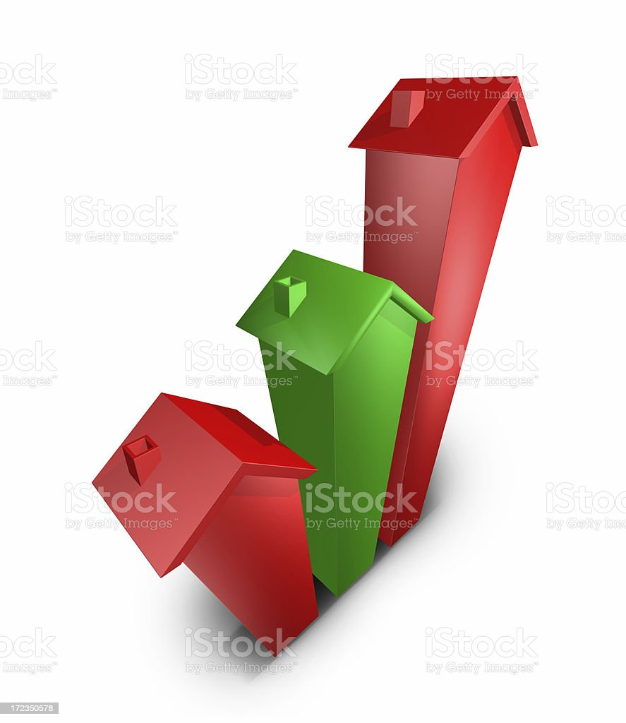 Rising house costs royalty-free stock photo