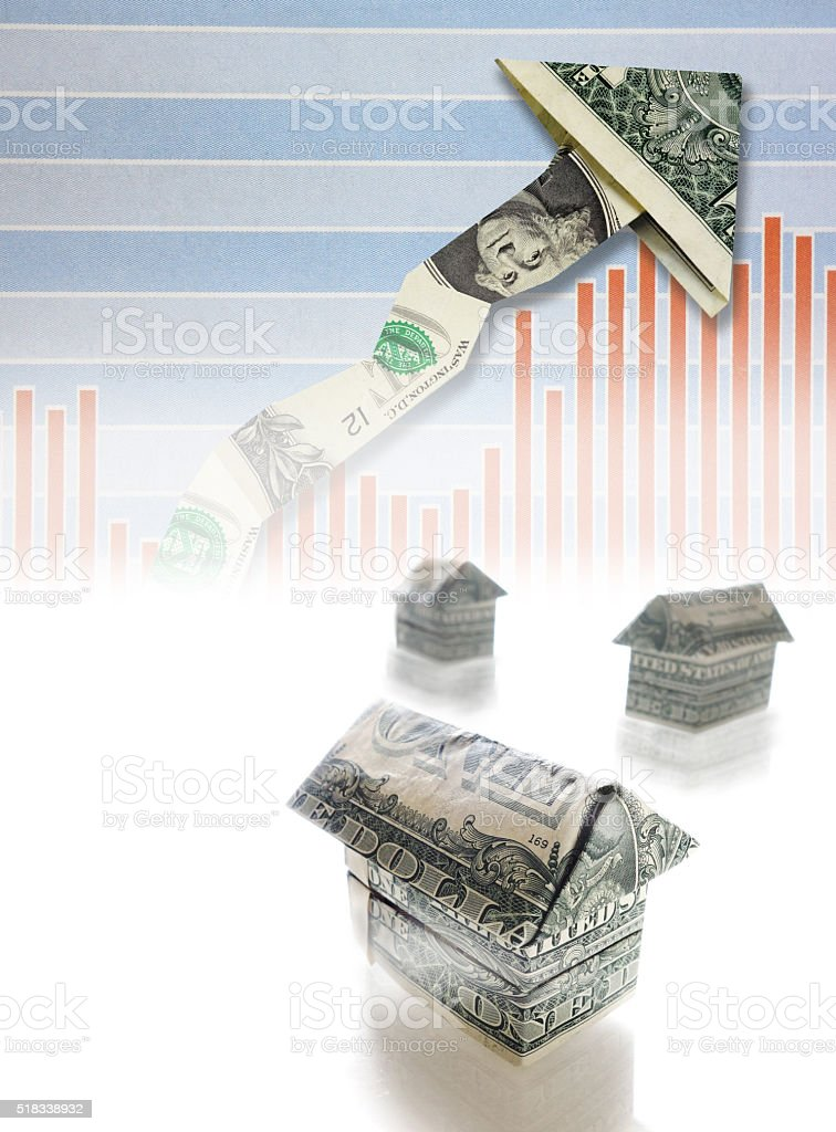 rising housing market stock photo