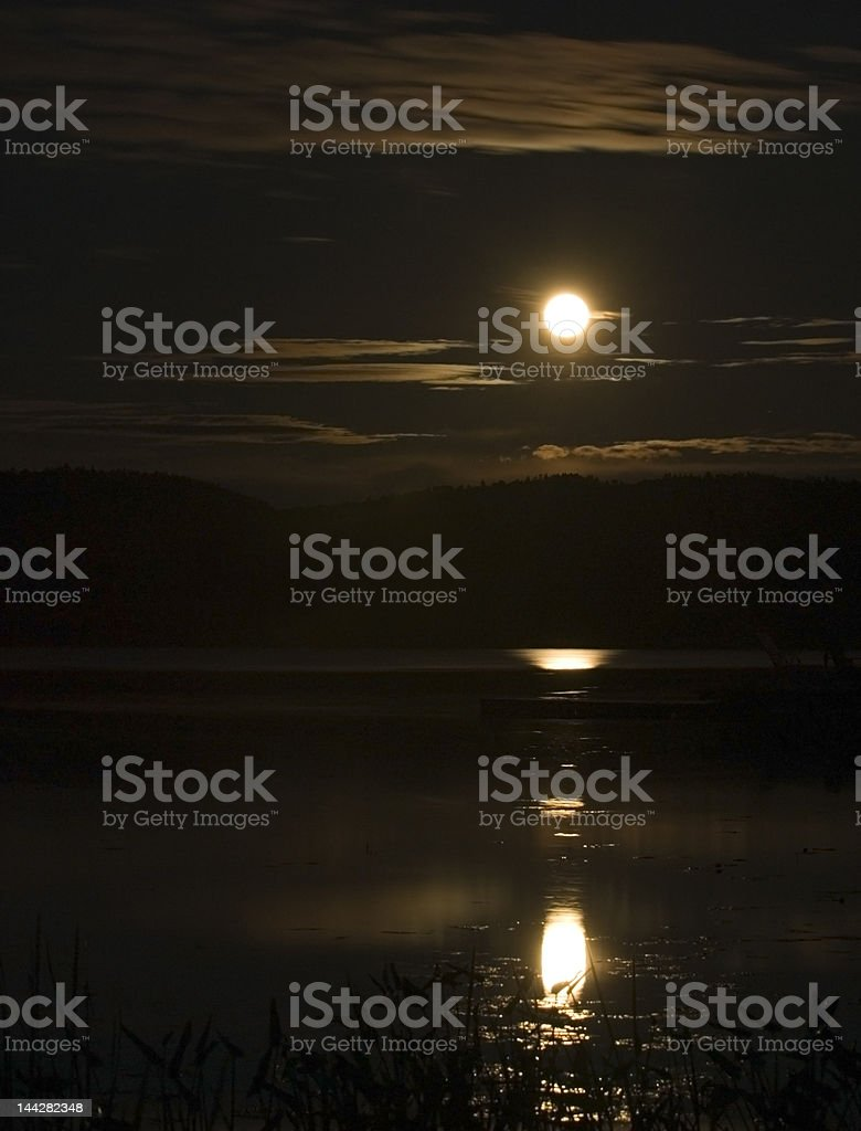 Rising Moon royalty-free stock photo
