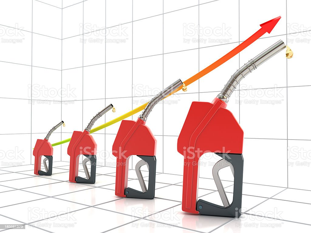Rising oil prices stock photo
