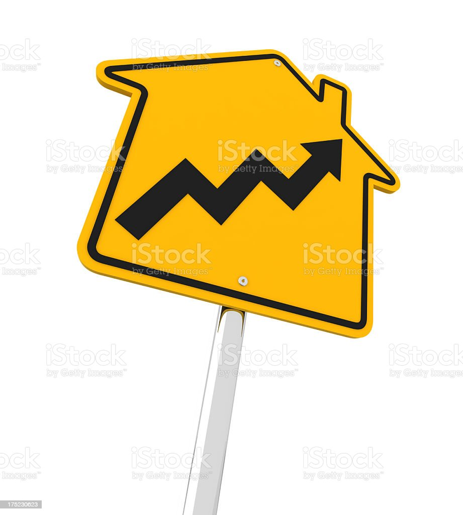 Rising real estate market ahead stock photo