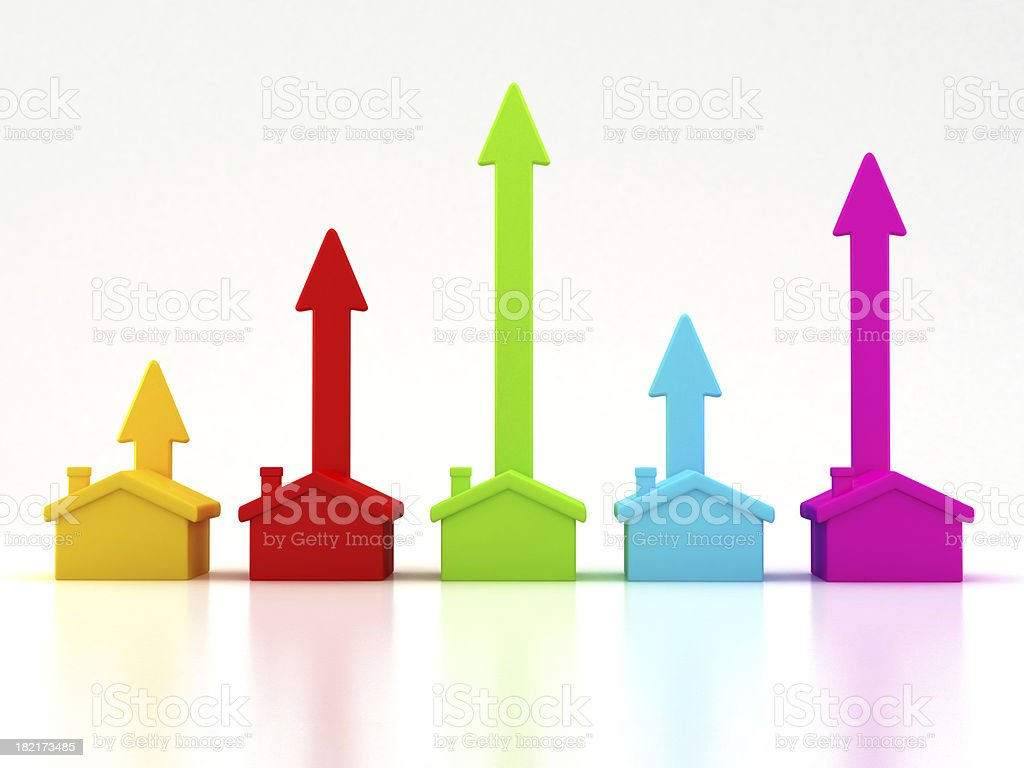 Rising real estate trends royalty-free stock photo