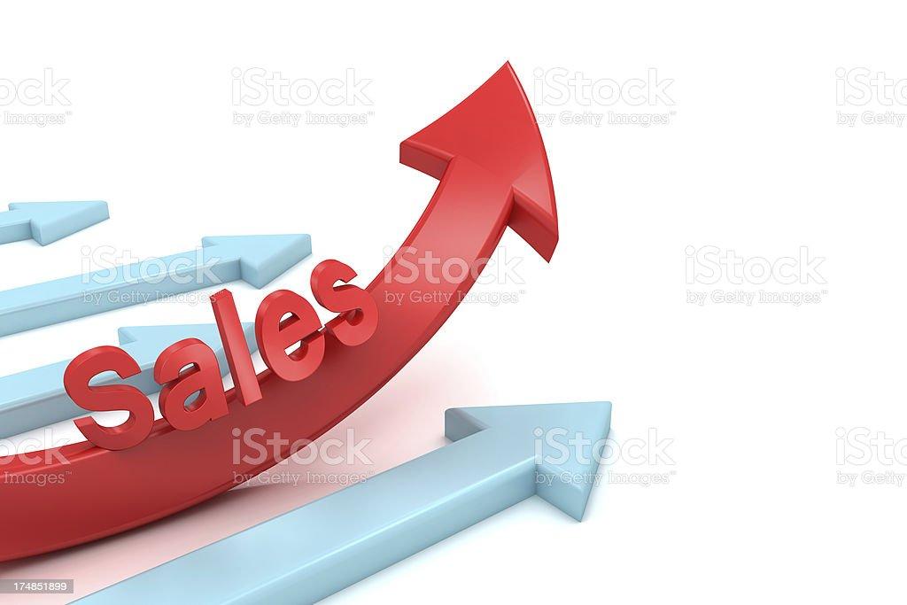 Rising Sales royalty-free stock photo