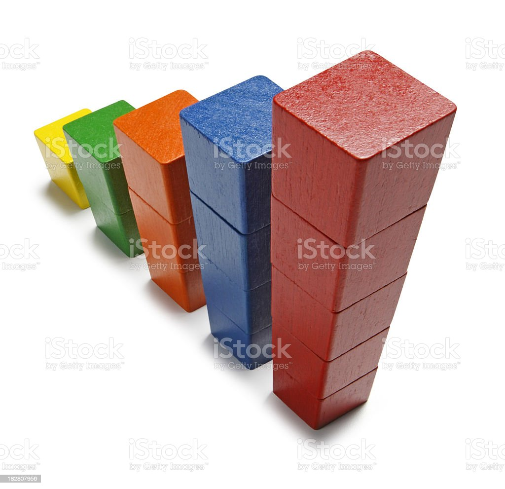 Rising Stack of Blocks royalty-free stock photo