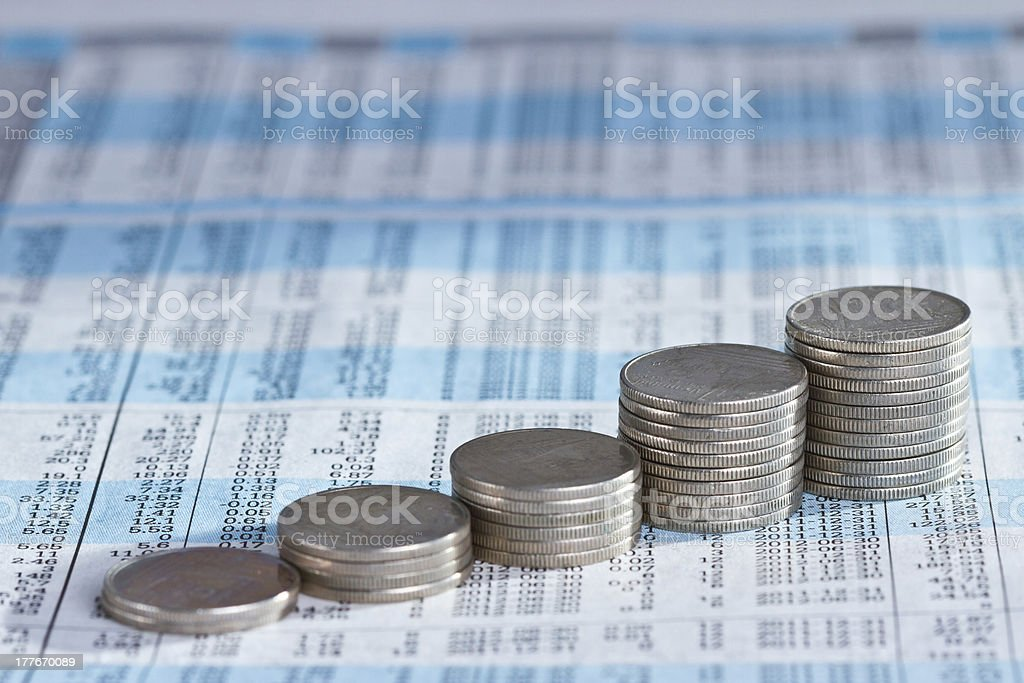 Rising Stack of coin royalty-free stock photo