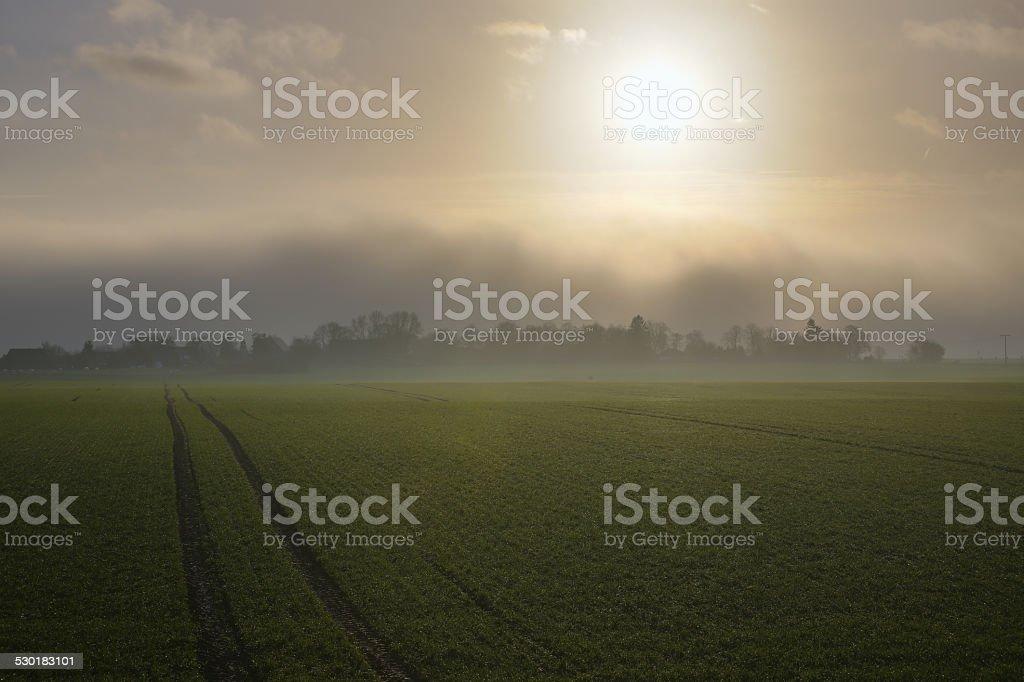 Rising Storm Over Grubenhagen stock photo