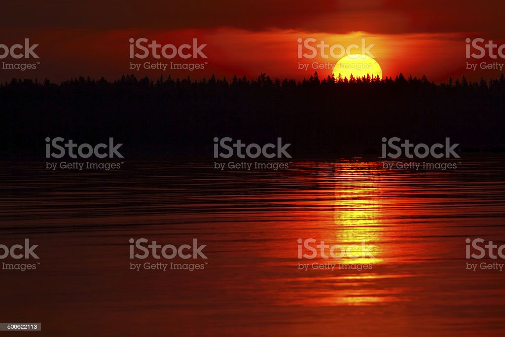Rising sun background royalty-free stock photo