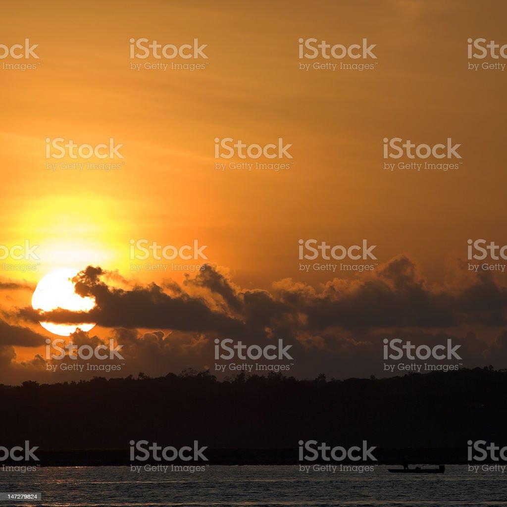 Rising Sun stock photo