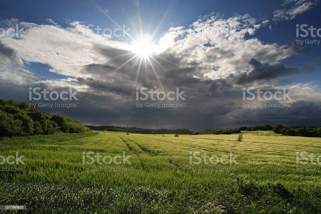 Rising Thunderstorm stock photo