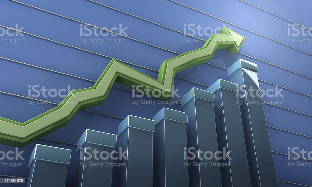 Rising trend stock photo