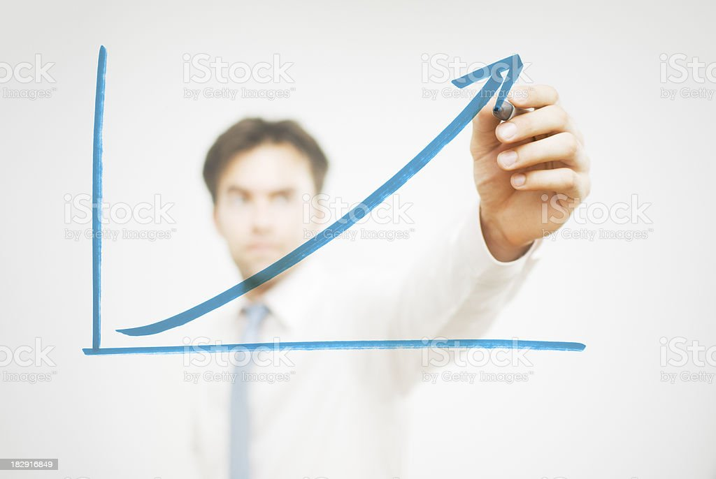 Rising Trend royalty-free stock photo