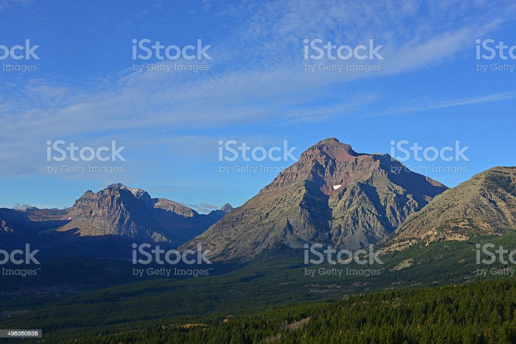 Rising Wolf Mountain, Glacier National Park, Montana stock photo