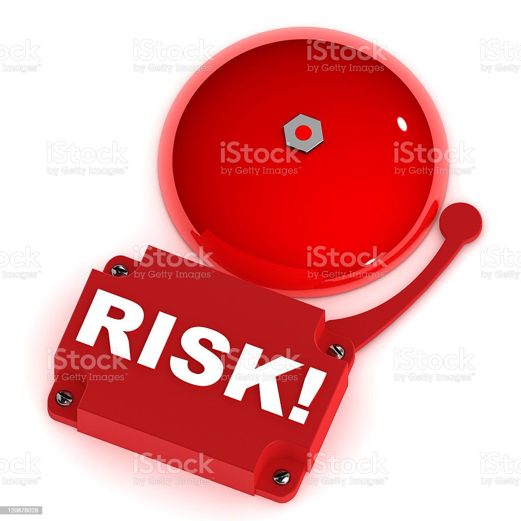 Risk Alarm Bell royalty-free stock photo