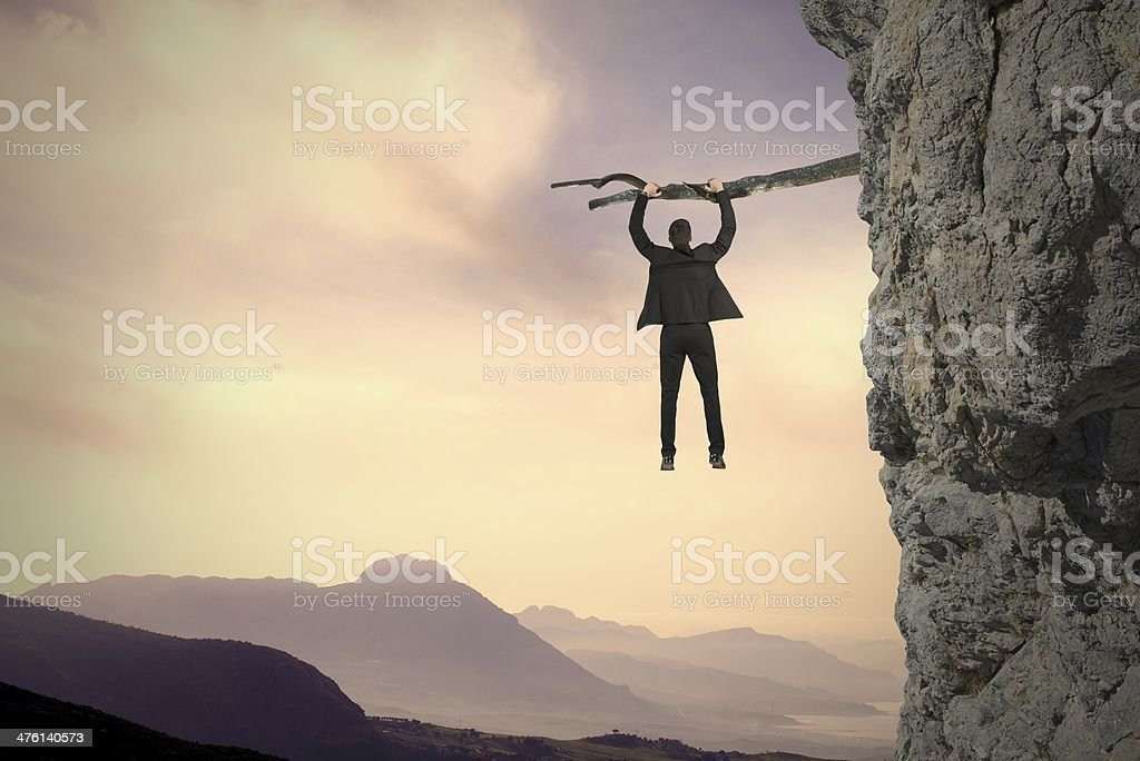 Risk  and crisis stock photo