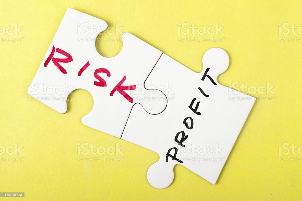 Risk and profit royalty-free stock photo