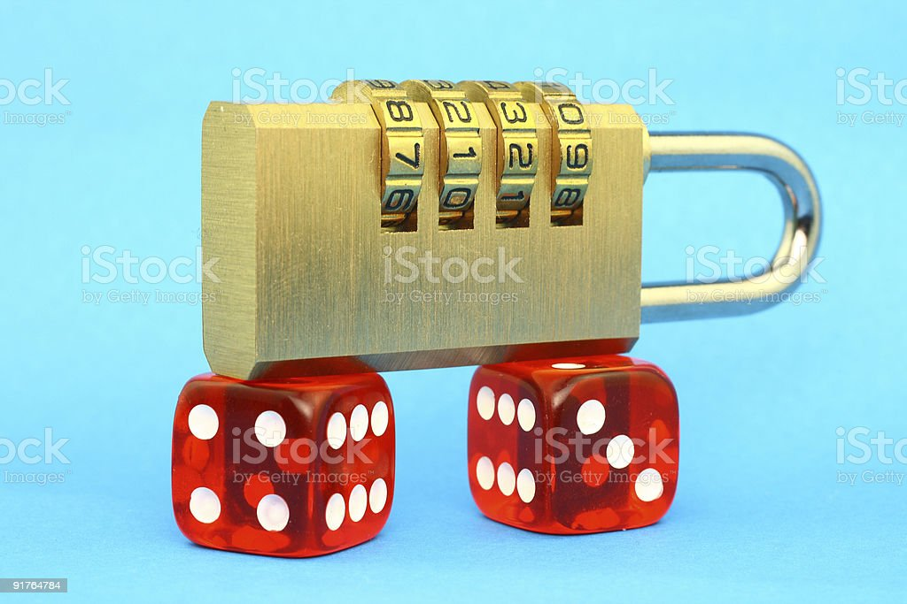 Risk and security royalty-free stock photo
