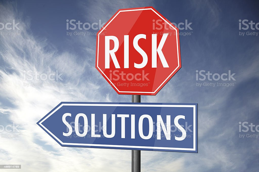 Risk and solutions royalty-free stock photo