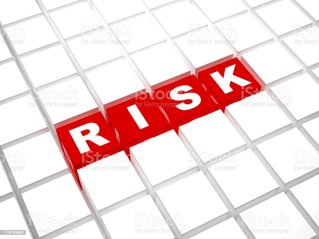 Risk blocks royalty-free stock photo