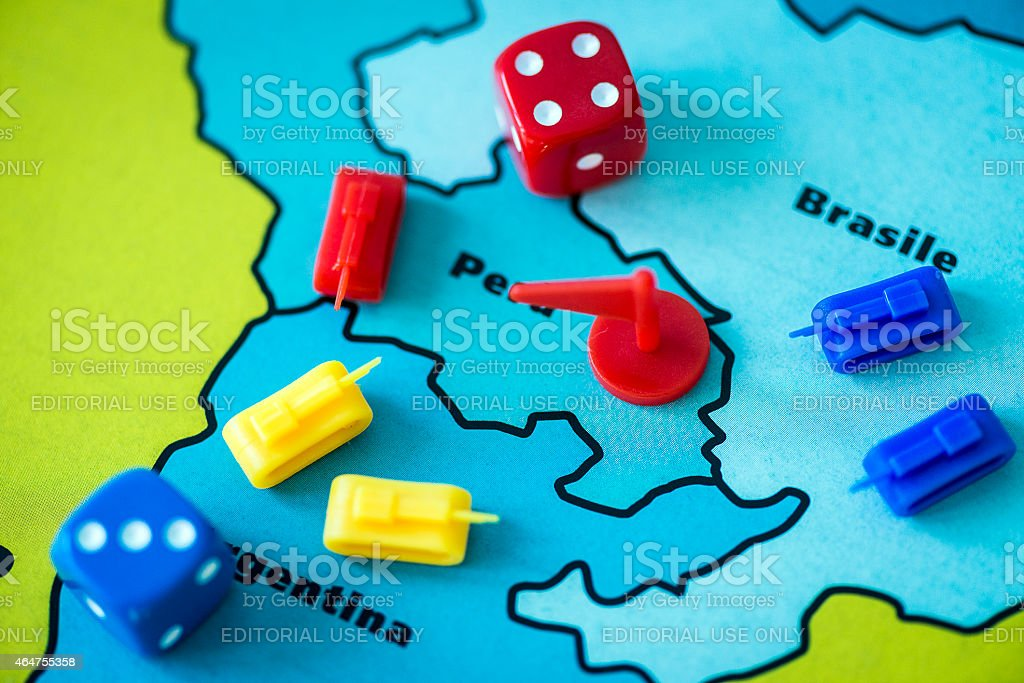 Risk! board game close up stock photo