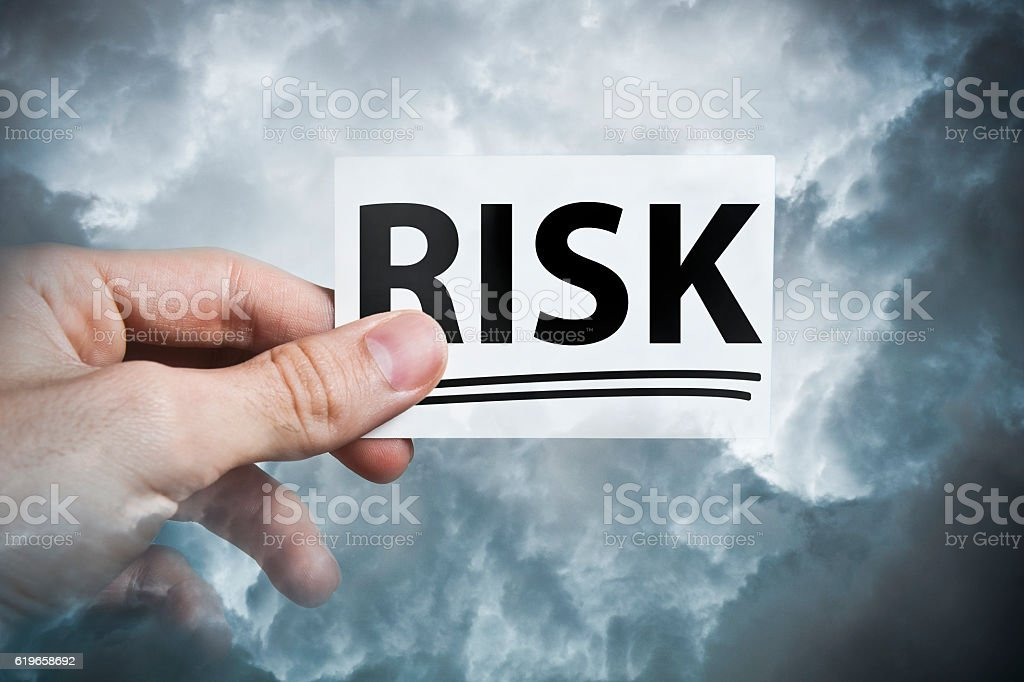 Risk / Business card concept (Click for more) stock photo