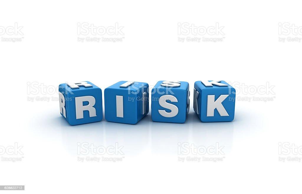 Risk Buzzword Cubes - 3D Rendering stock photo