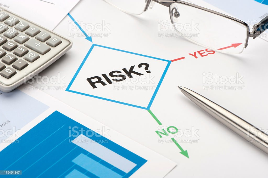 Risk chart stock photo