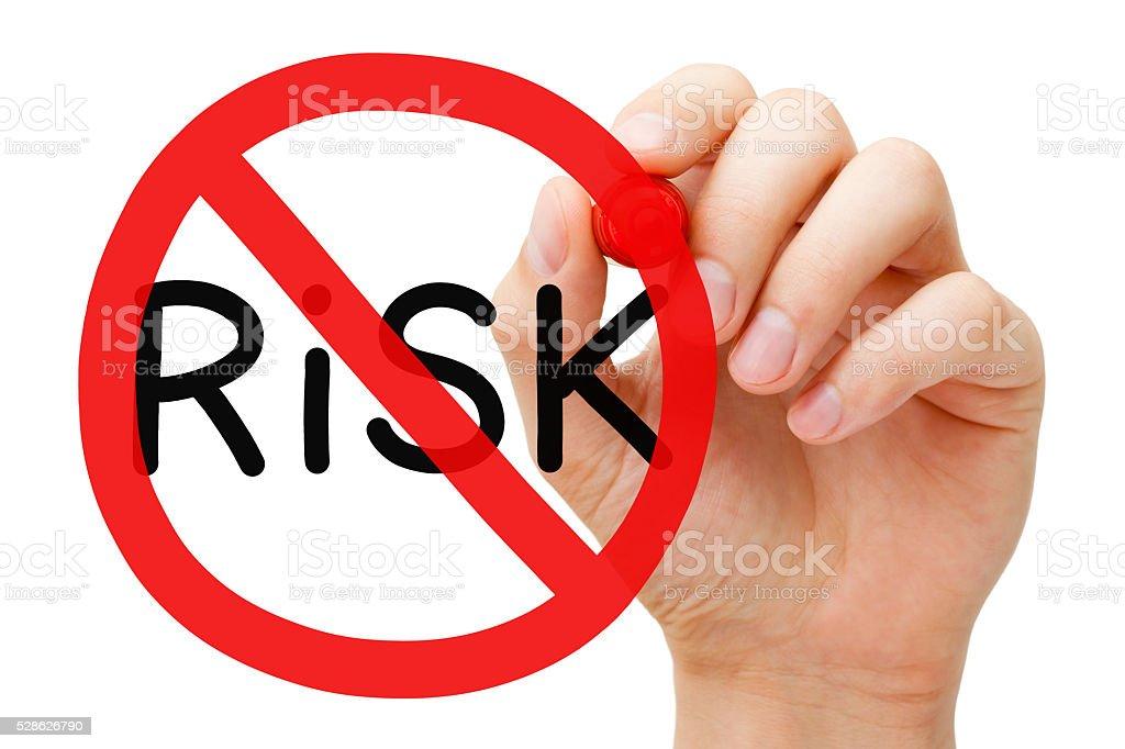 Risk Free Prohibition Sign Concept stock photo