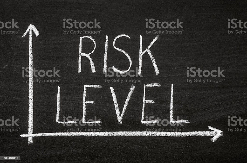 Risk level stock photo