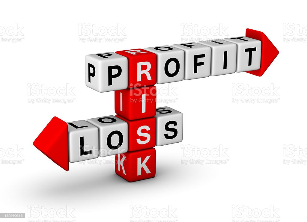 Risk - Profit and Loss stock photo