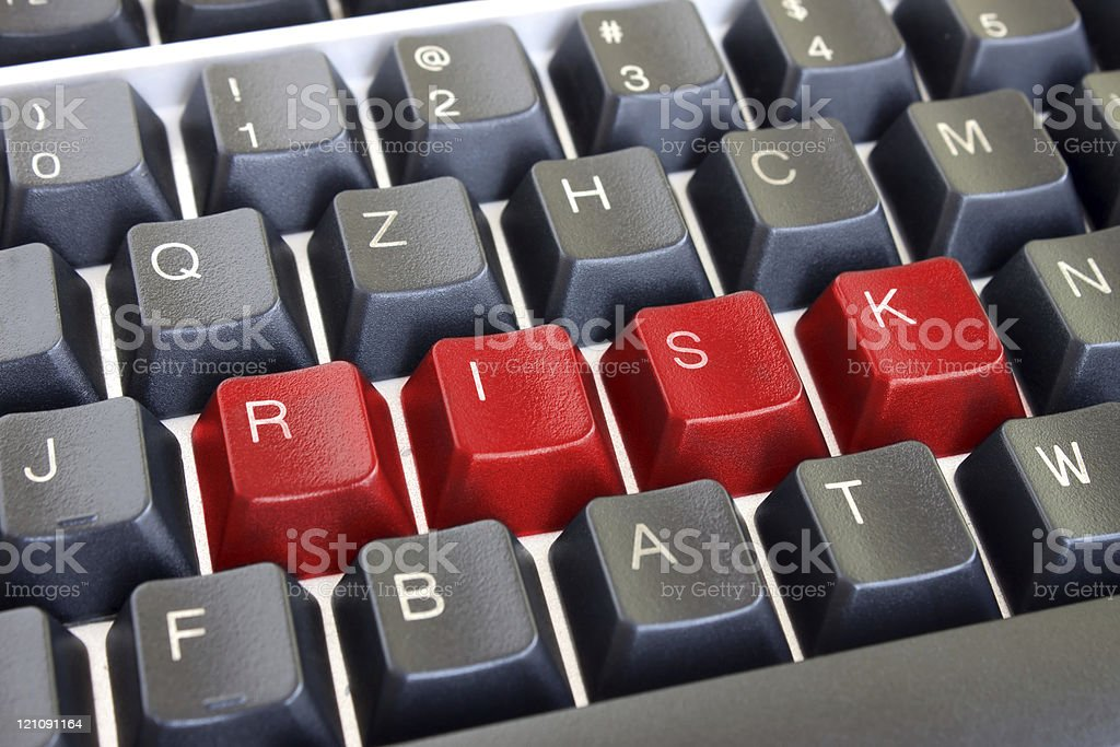 Risk red text stock photo