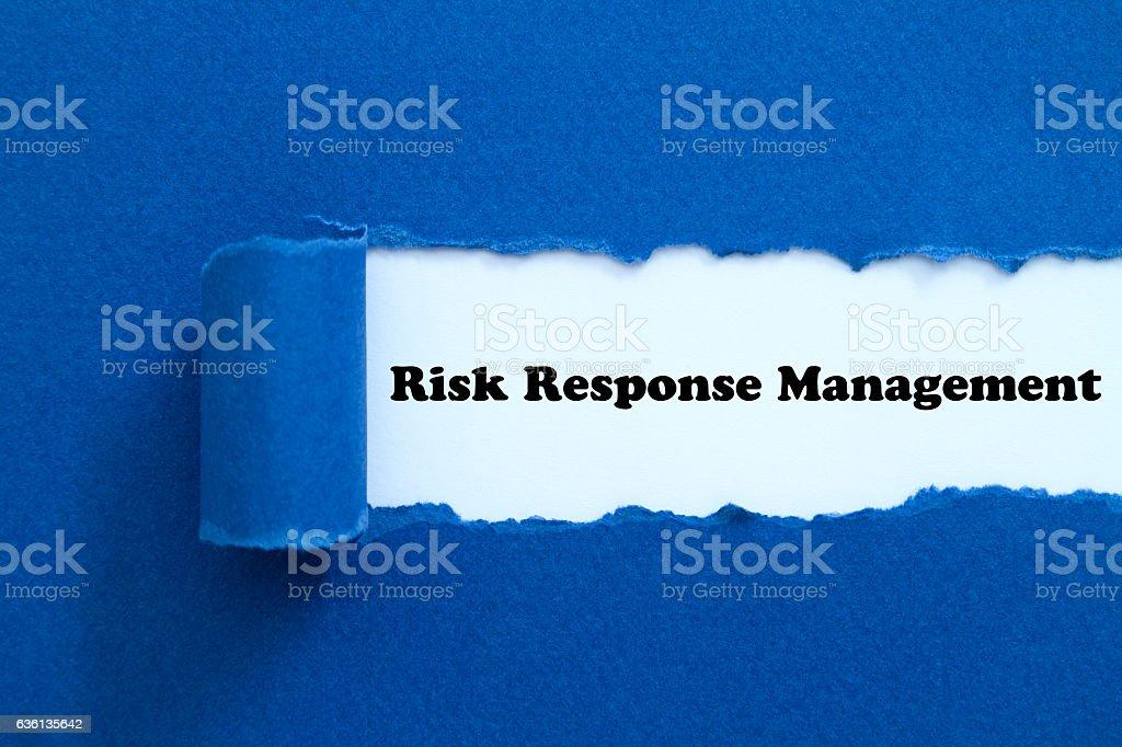 Risk Response Management stock photo