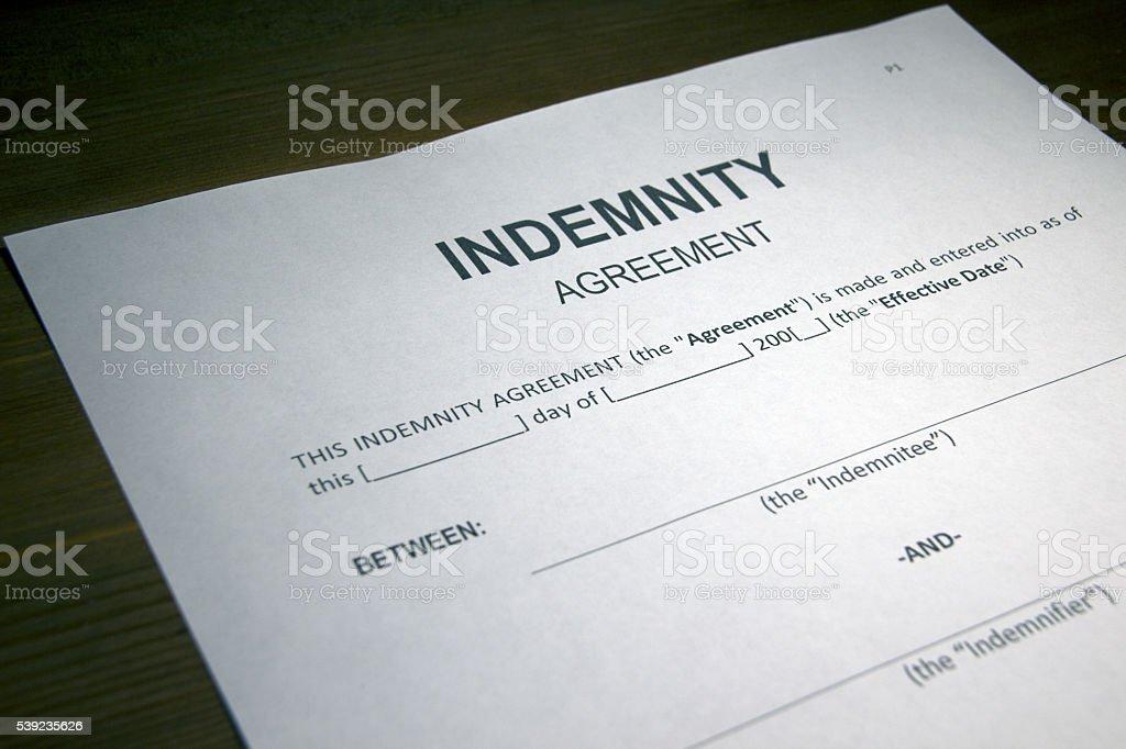 Risk Transfer Agreement stock photo