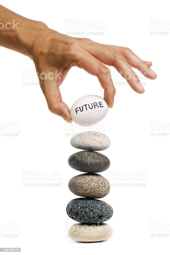 Risk, Uncertainty, Balance and Opportunity in Future Forecasting royalty-free stock photo