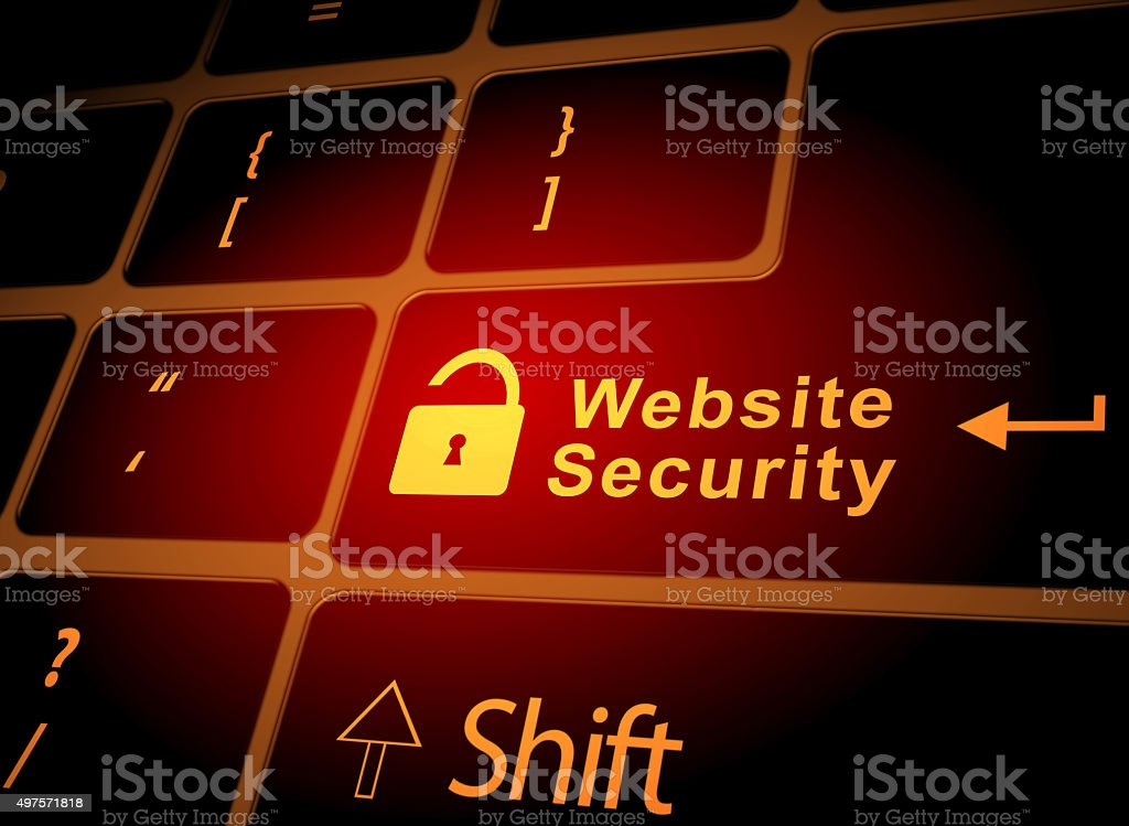 Risk website security stock photo