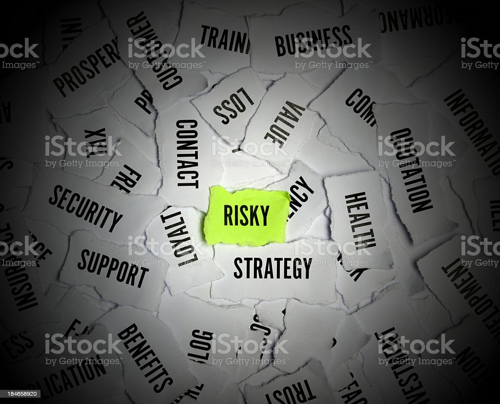 Risk Word On Paper royalty-free stock photo