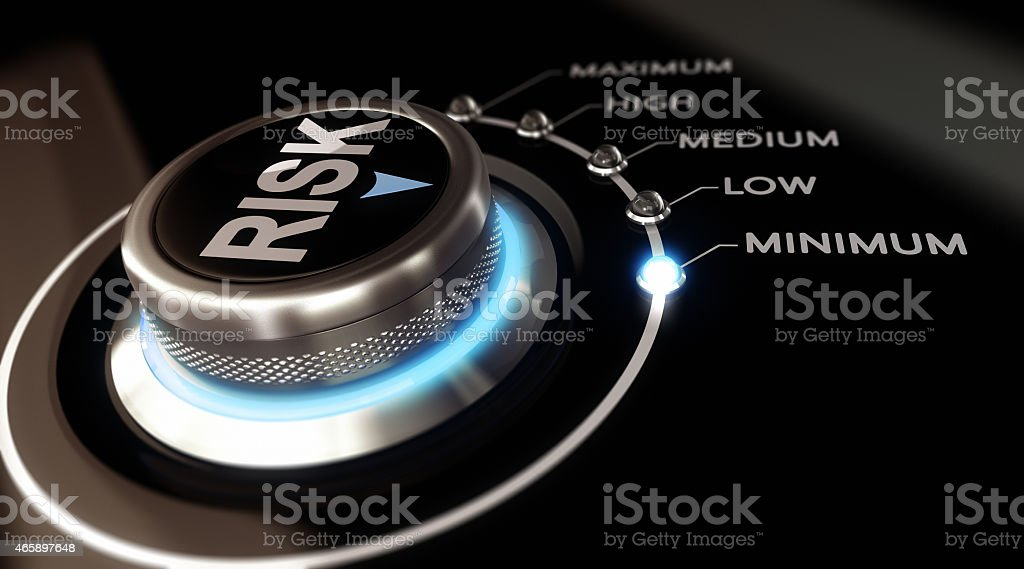 Risk-control with options from minimum to maximum stock photo
