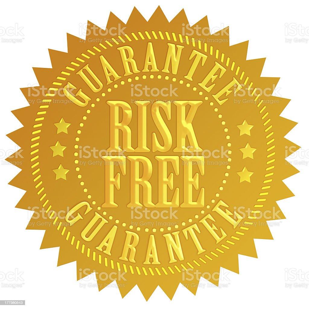 Risk-free guarantee icon royalty-free stock photo