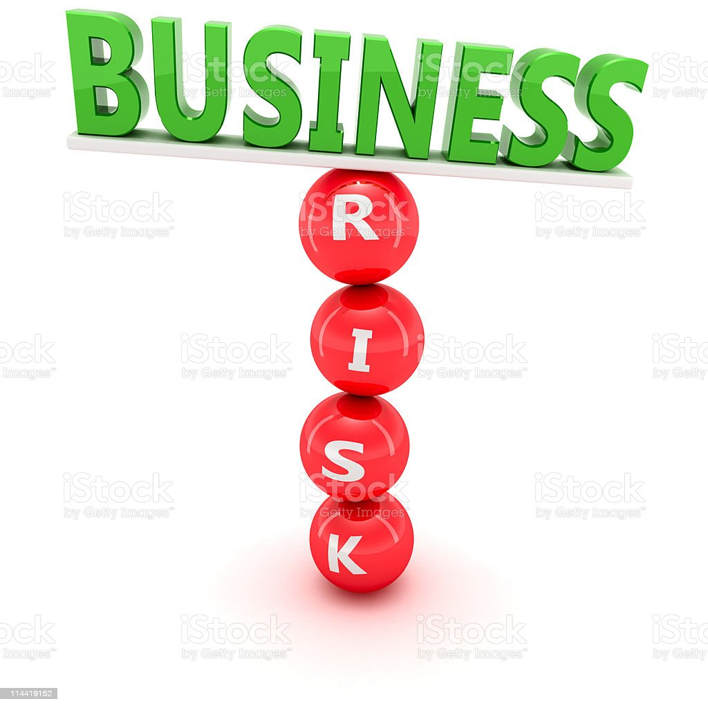 Risky business stock photo
