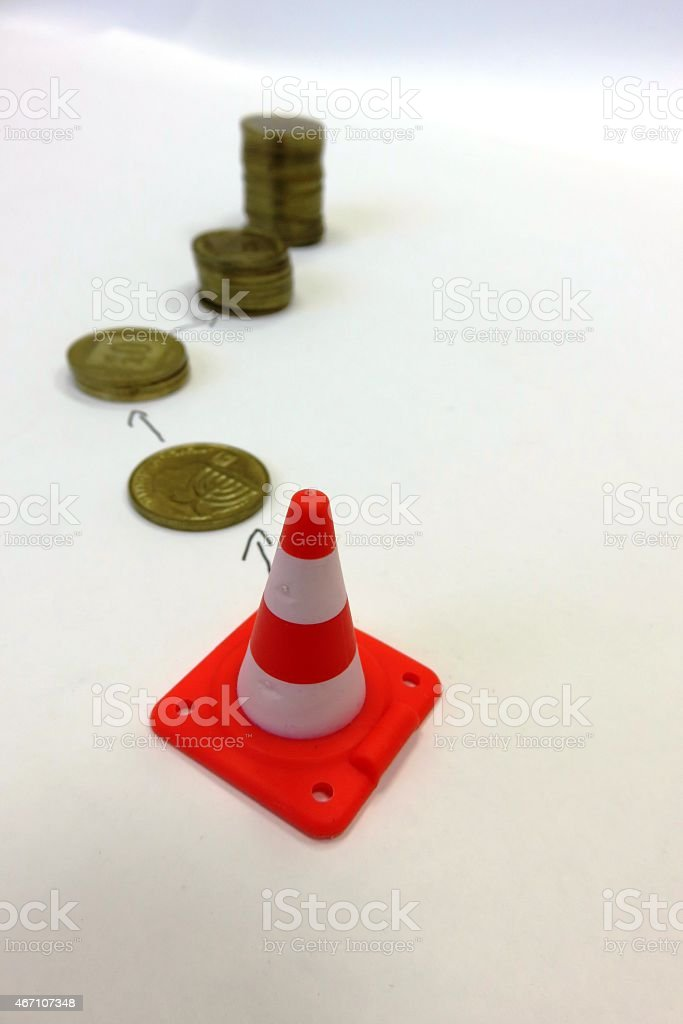 Risky investments stock photo