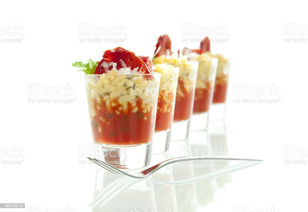 Risotto and Salami Appetizer royalty-free stock photo