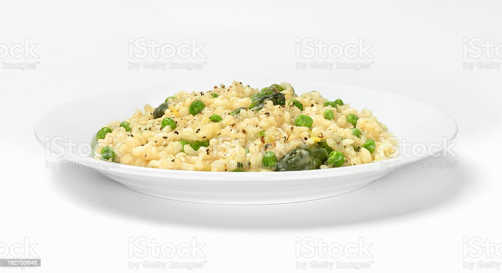 Risotto Primavera with Asparagus royalty-free stock photo